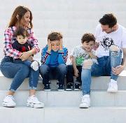 Sacachispas festejó con la familia Messi