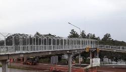 Quedó habilitado el puente peatonal frente al Campus de la Unam