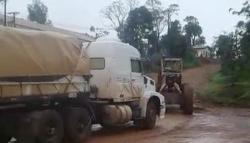 San Pedro: camiones remolcados con zanello en ruta nacional 14