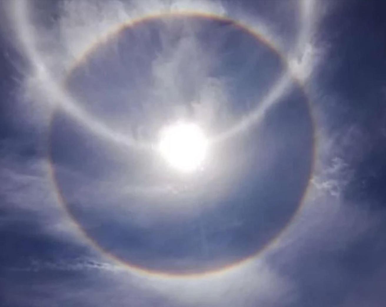 Que Es Un Halo Solar El Arcoiris Circular Que Se Robo Las Miradas En El Centro Del Pais El Territorio Misiones